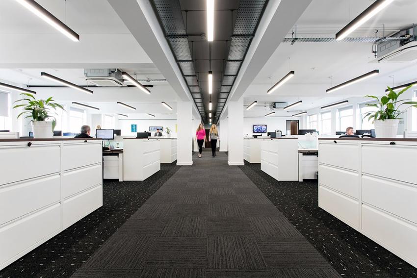 linear led light office